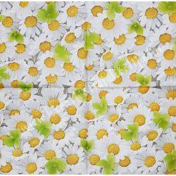 Szalvéta, virágok, margaréta, 33x33 cm (36)
