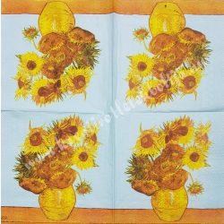 Szalvéta, virágok 39., napraforgó, 33x33 cm