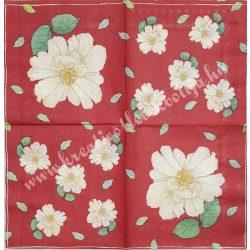 Szalvéta, virágok, 33x33 cm (46)