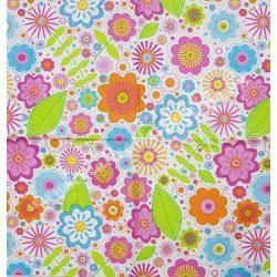 Szalvéta, virágok 59., színes, 33x33 cm