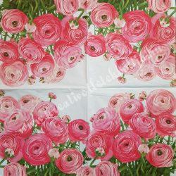 Szalvéta, virágok, 33x33 cm (6)
