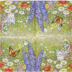 Szalvéta, virágok 66., 25x25 cm