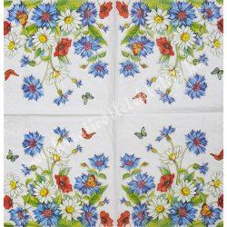 Szalvéta, virágok 67., 25x25 cm