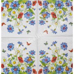 Szalvéta, virágok, 25x25 cm (67)