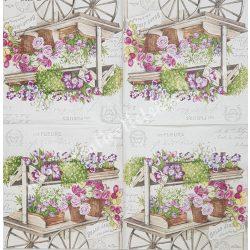 Szalvéta, virágok 68., 33x33 cm