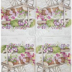 Szalvéta, virágok, 33x33 cm (68)