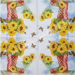 Szalvéta, virágok 69., 33x33 cm