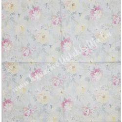 Szalvéta, virágok, 33x33 cm (7)