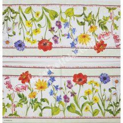 Szalvéta, virágok 70.,33x33 cm