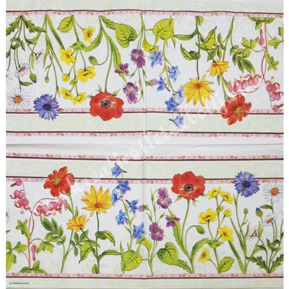 Szalvéta, virágok, 33x33 cm (70)