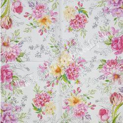 Szalvéta, virágok, 33x33 cm (71)