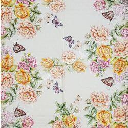 Szalvéta, virágok 33x33 cm (72)