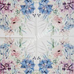 Szalvéta, virágok 33x33 cm (73)
