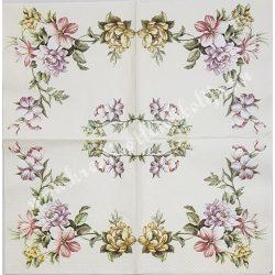 Szalvéta, virágok 33x33 cm (75)