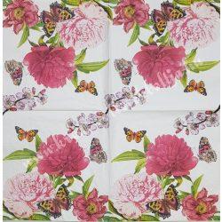 Szalvéta, virágok 33x33 cm (76)