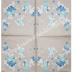 Szalvéta, virágok 33x33 cm (77)