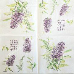 Szalvéta, virágok, 33x33 cm (78)