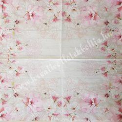 Szalvéta, virágok, 33x33 cm (79)