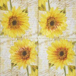 Szalvéta, virágok 33x33 cm (8)