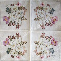 Szalvéta, virágok, 33x33 cm (83)