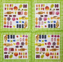 Szalvéta, édesség, cukorka, 32x32 cm, 1 darab