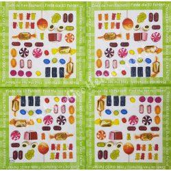 Szalvéta, édesség, cukorka, 33x33 cm (14)