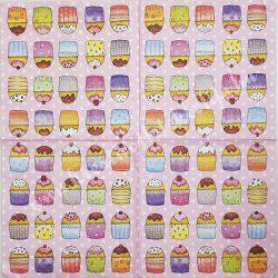 Szalvéta, édesség, muffinok, 32x32 cm, 1 darab