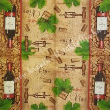Szalvéta, férfiaknak, bor, 32x32 cm, 1 darab