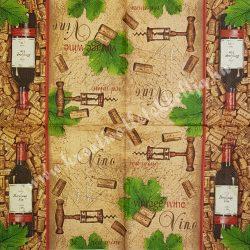 Szalvéta, férfiaknak, bor, 33x33 cm (12)