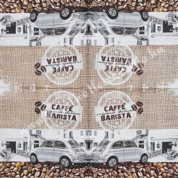 Szalvéta, kávé, 33x33 cm (24)