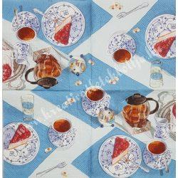 Szalvéta, kávé, tea és torta, 33x33 cm (10)