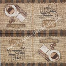 Szalvéta, kávé és tea, reggeli kávé, 32x32 cm, 1 darab