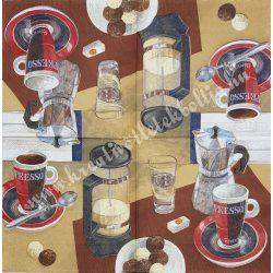 Szalvéta, kávé és tea, espresso, 32x32 cm, 1 darab