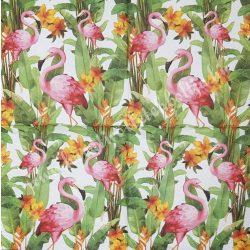Szalvéta, madarak 25., flamingó, 33x33 cm