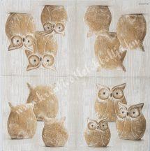 Szalvéta, madarak, 32x32 cm, 1 darab