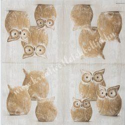 Szalvéta, madarak 26., 33x33 cm