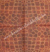 Szalvéta, mintás, pikkely, 25x25 cm, 1 darab