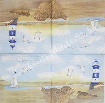 Szalvéta, tenger, 32x32 cm, 1 darab