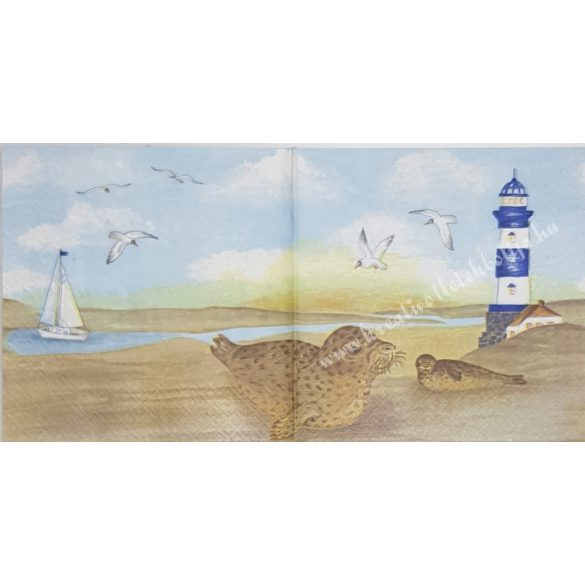 Szalvéta, tenger, 33x33 cm (10)