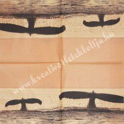 Szalvéta, tenger, naplemente, 32x32 cm, 1 darab