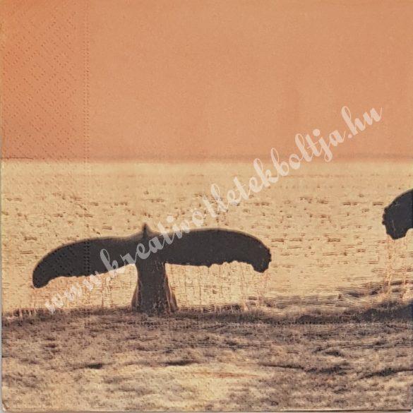 Szalvéta, tenger, naplemente, 33x33 cm (30)