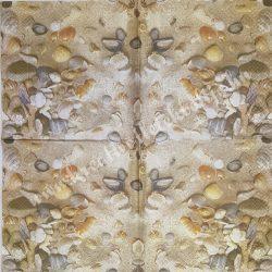 Szalvéta, tenger, kagylók, 32x32 cm, 1 darab