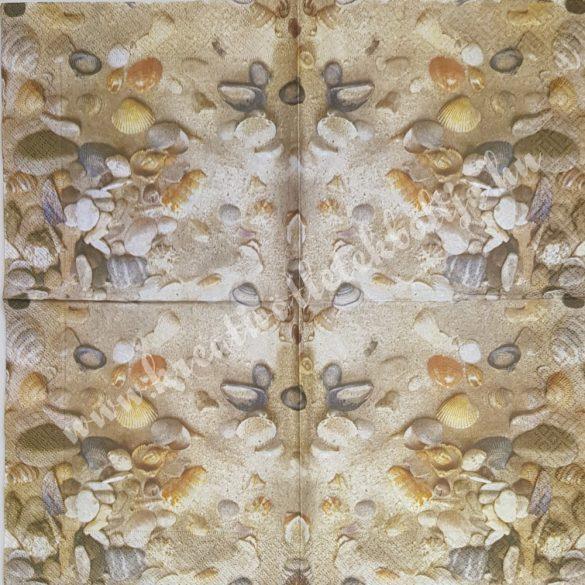 Szalvéta, tenger, kagylók, 33x33 cm (31)