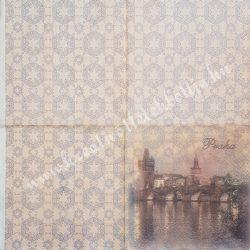 Szalvéta, városok, 32x32 cm, Prága, 1 darab