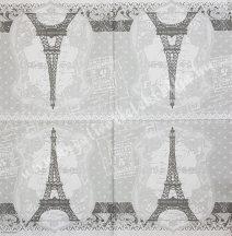 Szalvéta városok, Párizs,25., 33x33 cm