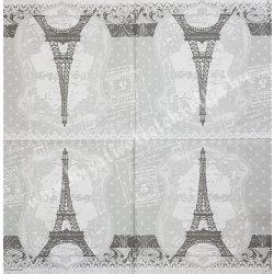 Szalvéta, városok, Párizs, 33x33 cm (25)