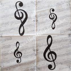 Szalvéta zene, 25x25 cm (12)