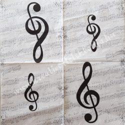 Szalvéta, zene 25x25 cm (12)