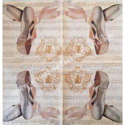 Szalvéta, zene 33x33 cm (2)