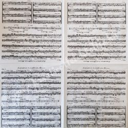 Szalvéta, zene 33x33 cm (4)